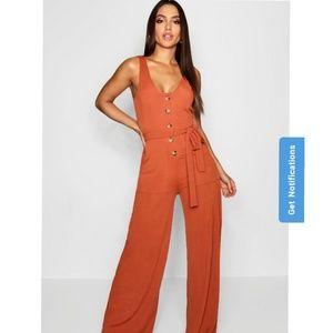 NWT Burnt Orange Jumpsuit